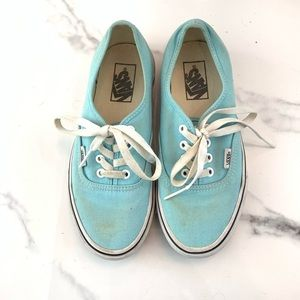 "Light Blue ""Authentic"" Classic Vans"